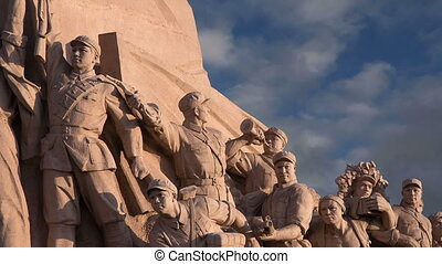 Revolutionary statues in Beijing