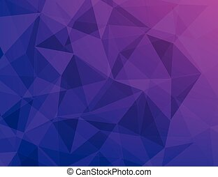 polygon geometric abstract background of purple - violet and...