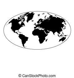 graphic map of the earth