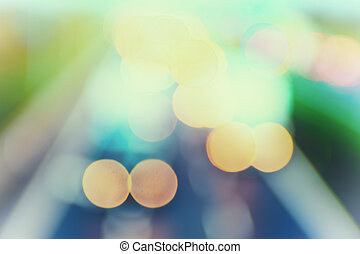 abstract style - De-focused Pastel highway lights - Abstract...