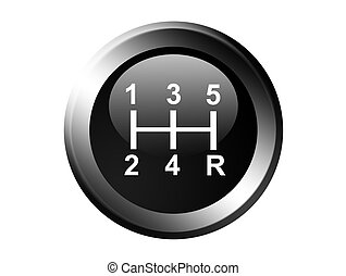 Gear - Change gear illustration numbers over black...