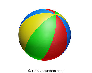 Ball - blue, green, red and yellow colors toy ball