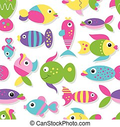 cute fish collection pattern