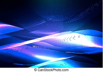 Abstract blue background of glowing lines