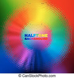Abstract colorful circle background, vector illustration