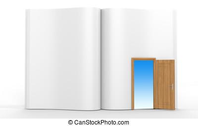3D book with opened door