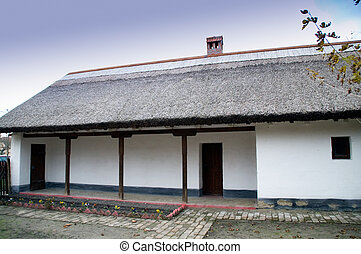 House thatched roof - Old Banat house with covers of cod on...