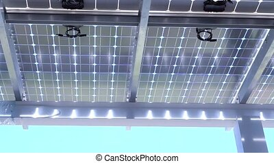 under solar panels with power inverter