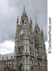 Towers on the Basilica in Quito