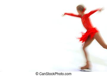 figure skater  -  figure skater on a white background