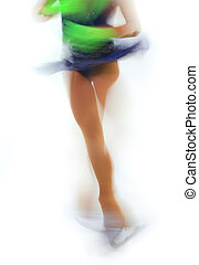 figure skater  -  figure skater on a white background