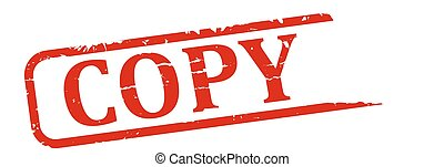 Copy - stamp - Red stamp with the word copy - illustration