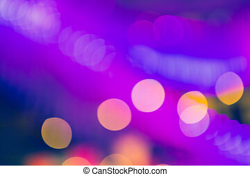 Bokeh street light Vintage background