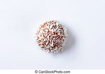 Chocolate coconut truffle - Chocolate truffles rolled in...