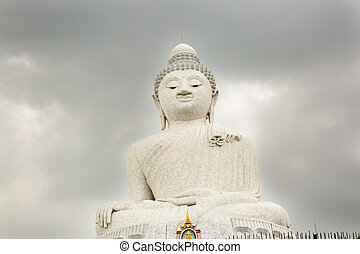 Big Buddha monument on island of Phuket in Thailand Formal...