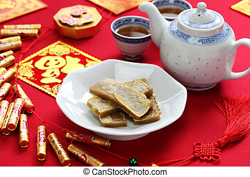 nian gao, chinese new year cake - nian gao, chinese new year...