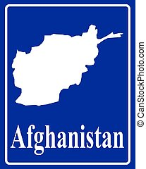 silhouette map of Afghanistan