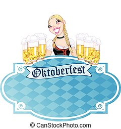 Invitation to the Oktoberfest - Invitation card to the...