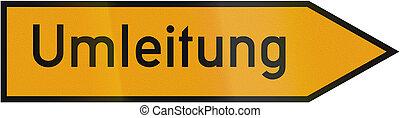 Detour Sign 1953