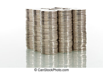 Financial power concept with coins