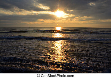 Morning and sunrise time at Hat Chao Samran beach of sea in...