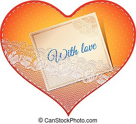 lace heart card
