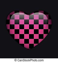 Valentines Day Glossy Emo Heart. Pi