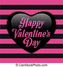 Glossy Emo Heart. Pink and Black St - Vector - Glossy Emo...