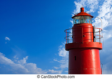 Red Lighthouse - La Spezia Italy - The top of red lighthouse...