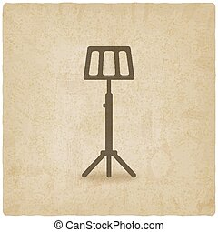 music stand old background - vector illustration eps 10