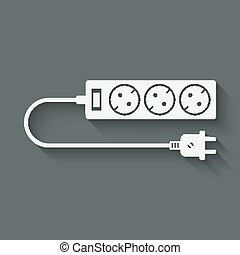 extension cord symbol - vector illustration eps 10