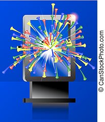 Abstract backround - vertical billboard with explosion...