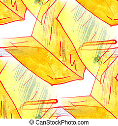 Mural background seamless pattern pen, notebook text - Mural...