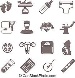 Pregnancy Black Icons