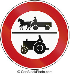 No Carriages Or Tractors 1970 - Old design 1970 of a German...