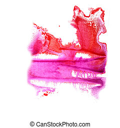 abstract Red, violet drawing stroke ink watercolor brush...