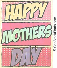 Print - happy mothers day, illustration in vector format