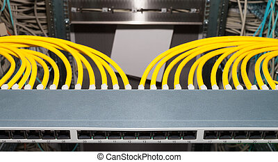 Network Patchfield in a datacenter