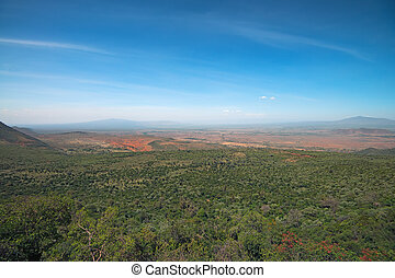 Great Rift Valley - Panoramic view of Great Rift Valley in...