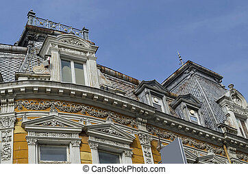 Ancient building in Ruse town - Ancient renovated building...