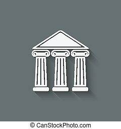 building with columns - vector illustration eps 10