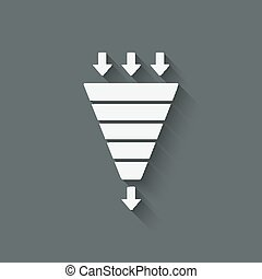 marketing funnel symbol - vector illustration. eps 10