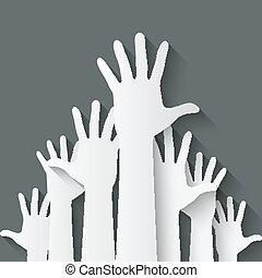 hands up symbol - vector illustration. eps 10