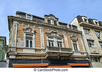 Ancient building in Ruse town - Ancient building with rich...