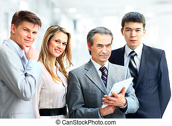 businessman his team - Portrait of businessman leading his...