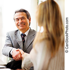 people shaking hands - Business people shaking hands,...