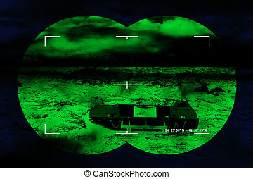 Infrared night view - The search for the lost lifeboat - sea...