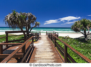 Gold Coast beach - Amazing sunny day on the Gold Coast,...