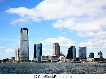 The Jersey City Skylines by Hudson River