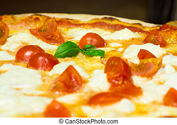 foreground Italian pizza - foreground of an Italian pizza....
